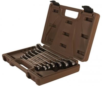 Набор ключей гаечных комбинированных трещоточных SNAP GEAR, 8-19 мм, 7 предметов 19642