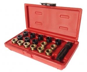 Набор инструментов для восстановления резьбы свечей зажигания (пружинная вставка М14х1.25) 5шт. JTC