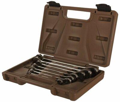 Набор ключей гаечных комбинированных трещоточных SNAP GEAR, 8-19 мм, 7 предметов 24485