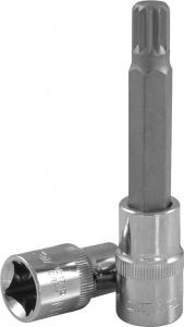 """Насадка торцевая 1/2""""DR с вставкой-битой SPLINE, M14, 100 мм"""
