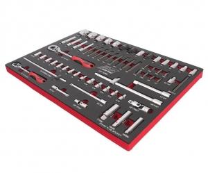Набор инструментов 63 предметов слесарно-монтажный (1-ая секция) в ложементе JTC