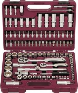 """Набор инструмента универсальный 1/4"""", 1/2""""DR с головками торцевыми MultiProf, 108 предметов"""
