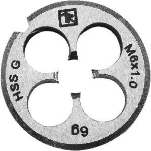 Плашка D-COMBO круглая ручная М10х1.0, HSS, Ф30х11 мм