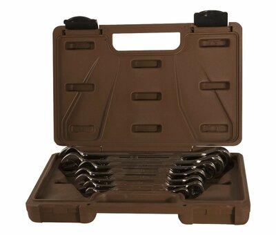 Набор ключей гаечных комбинированных трещоточных SNAP GEAR, 8-19 мм, 7 предметов 24482