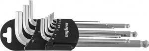 OMT9S Набор ключей торцевых шестигранных с шаром, H1.5-10 мм, 9 предметов