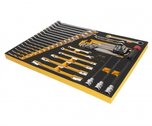Набор инструментов 48 предмета слесарно-монтажный (BMW) в ложементе JTC