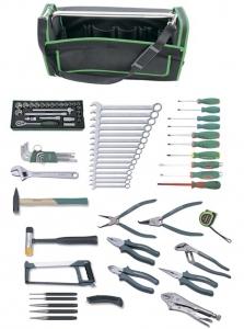 Набор инструмента универсальный в сумке, 78 предметов (переносная сумка Tetoron®) JONNESWAY