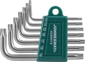 Комплект угловых ключей Torx Т10-Т40, S2 материал, 7 предметов JONNESWAY