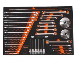 Набор инструментов 42 предмета слесарно-монтажный (MERCEDES) в ложементе JTC