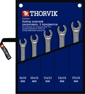Набор ключей разрезных в сумке 8-19 мм, 5 предметов Thorvik