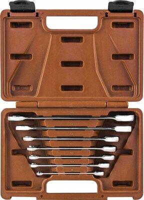 Набор ключей гаечных комбинированных трещоточных SNAP GEAR, 8-19 мм, 7 предметов 24472