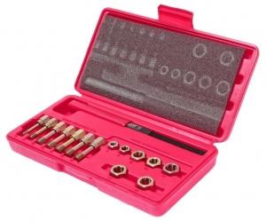 Набор инструментов для восстановления резьбы М6х1.0-М12х1.75мм в кейсе 15 предметов JTC