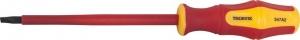 Отвертка шлицевая диэлектрическая VDE 1000 v SL4x100 мм Thorvik SDLI410