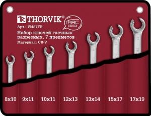 W4S7TB Набор ключей разрезных в сумке 8-19 мм, 7 предметов Thorvik