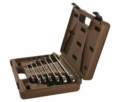 Набор ключей гаечных комбинированных трещоточных SNAP GEAR, 8-19 мм, 7 предметов 19644