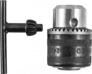 Патрон трехкулачковый с ключом для дрели  RAD1018 в сборе Thorvik RKS31018