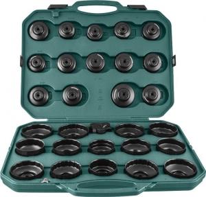 Комплект чашек для демонтажа масляных фильтров 65-120 мм, 30 предметов JONNESWAY
