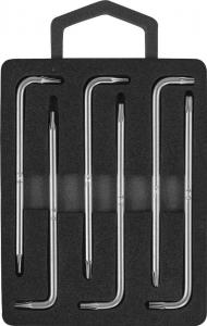 Комплект угловых ключей Torx с центрированным штифтом Т4-Т9, S2 материал, 6 предметов JONNESWAY