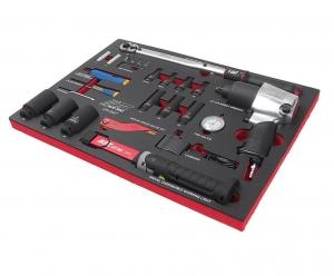 Набор инструментов 27 предметов слесарно-монтажный с пневмогайковертом в ложементе JTC