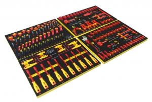 Набор инструментов 115 предметов изолированных комплект JTC