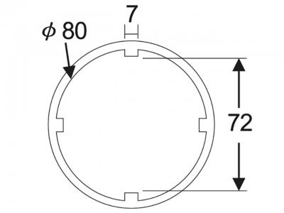 """Головка 3/4""""х72мм для гаек муфты переднего главного вала транмиссии (SCANIA) JTC 38665"""