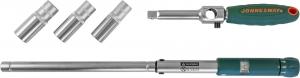 T02170 Ключ баллонный инерционный с динамометрической рукояткой, 70-170 Нм и головками торцевыми в наборе, 17, 19, 21 мм