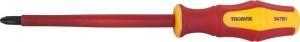 Отвертка крестовая диэлектрическая PHILLIPS®  VDE 1000 v PH2x100 мм Thorvik SDPI210