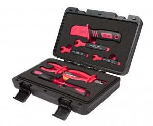 Набор инструментов для электроустановок с изоляцией 1000V 9 предметов (кейс) JTC