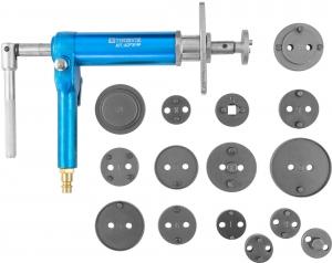 ACPTK16P Приспособление с пневматическим приводом для возврата поршней дисковых тормозных механизмов в наборе, 16 предметов