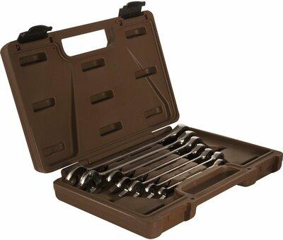 Набор ключей гаечных комбинированных трещоточных SNAP GEAR, 8-19 мм, 7 предметов 19633