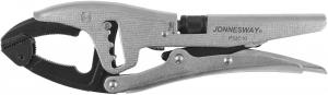 P52C10 Зажим ручной переставной с шарнирной губкой и трубным захватом, 250 мм, 0-80 мм
