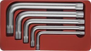 Набор угловых ключей Spline М-профиль, М5-М12, 5 предметов JONNESWAY