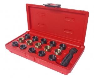 Набор инструментов для восстановления резьбы свечей зажигания (втулки М14х1.25 L=11.2мм,17.5мм) JTC