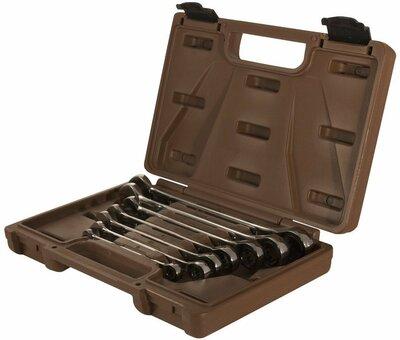 Набор ключей гаечных комбинированных трещоточных SNAP GEAR, 8-19 мм, 7 предметов 19628