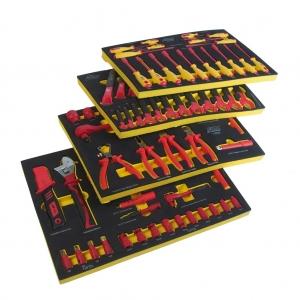 Набор инструментов 100 предметов изолированных (4 мягких ложемента) JTC