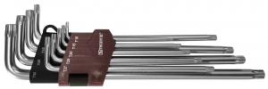TTKL9S Набор ключей торцевых T-TORX® удлиненных  с центрированным штифтом, Т10H-T50H, 9 предметов