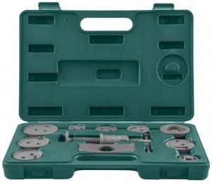 Комплект инструмента для возврата поршней тормозных цилиндров дисковых тормозов 11 предметов JONNESWAY