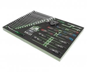 Набор инструментов 40 предметов слесарно-монтажный в ложементе JTC