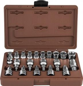 Набор головок торцевых, внешний TORX®, и насадок с вставками-битами TORX®, 22 предмета