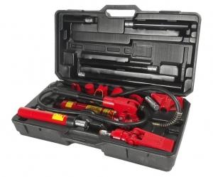 Набор инструментов для кузовных работ гидравлический, усилие 4т в кейсе 17 предметов JTC