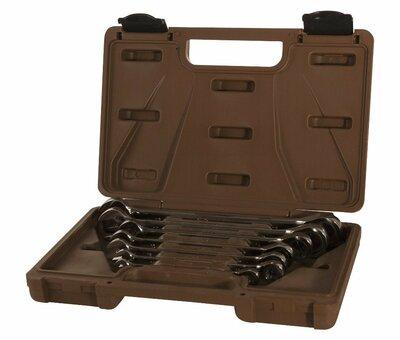 Набор ключей гаечных комбинированных трещоточных SNAP GEAR, 8-19 мм, 7 предметов 19638