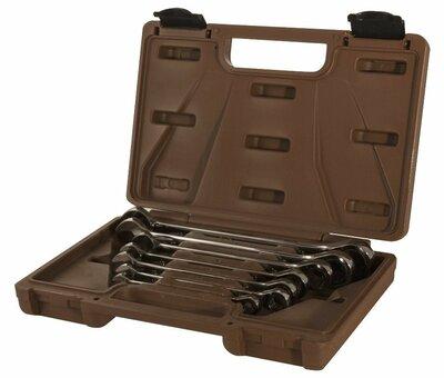 Набор ключей гаечных комбинированных трещоточных SNAP GEAR, 8-19 мм, 7 предметов 19639