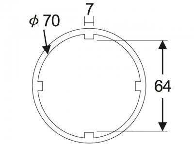 """Головка 3/4""""х64мм для гаек муфты передней главной оси трансмиссии (SCANIA) JTC 38666"""