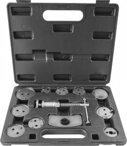 Приспособление для возврата поршней цилиндров дисковых тормозов в наборе, 12 предметов Thorvik