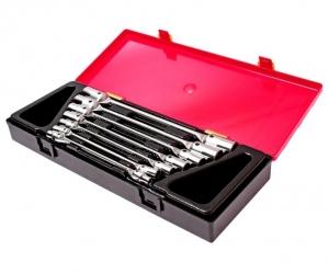 Набор ключей торцевых 6-19мм 12-ти гранных шарнирных 7 предметов JTC
