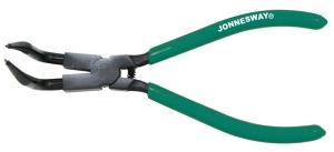 Щипцы для стопорных колец с удлиненными губками 216 мм. сжим загнутый JONNESWAY