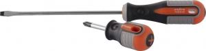 Отвертка стрежневая шлицевая ROUND GRIP, SL4x100 мм