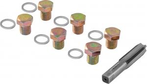 ODPRK1315 Набор для восстановления резьбы сливного отверстия поддона M13х1.5, 7 предметов