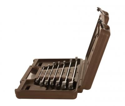 Набор ключей гаечных комбинированных трещоточных SNAP GEAR, 8-19 мм, 7 предметов 19646